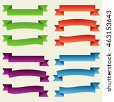 set of  colorful empty ribbons... | Shutterstock .eps vector #463153643