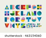 vector of abstract colorful... | Shutterstock .eps vector #463154060
