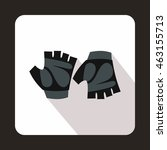 cycling gloves icon in flat... | Shutterstock .eps vector #463155713