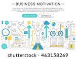 vector elegant thin line flat...   Shutterstock .eps vector #463158269