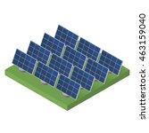 blue solar panels. flat... | Shutterstock . vector #463159040