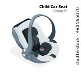 newborn baby car seat  isolated ... | Shutterstock .eps vector #463165070