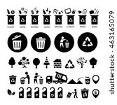 vector trash categories recycle ... | Shutterstock .eps vector #463165079