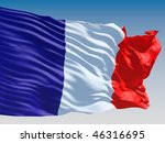 french flag flying on clear sky ... | Shutterstock . vector #46316695