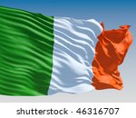 irish flag flying on clear sky... | Shutterstock . vector #46316707