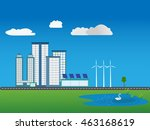 flat design vector illustration ... | Shutterstock .eps vector #463168619