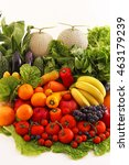 fresh fruits and vegetables | Shutterstock . vector #463179239