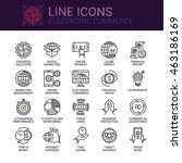 simple icons set of electronic... | Shutterstock .eps vector #463186169