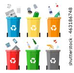 waste management concept. waste ... | Shutterstock .eps vector #463186748