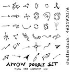 vector hand drawn arrows set | Shutterstock .eps vector #463192076