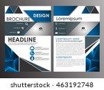 blue annual report brochure... | Shutterstock .eps vector #463192748