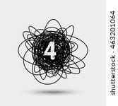 number 4 logo. vector logotype... | Shutterstock .eps vector #463201064