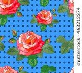 floral seamless pattern. rose...   Shutterstock .eps vector #463212374