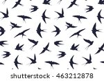 Swallow Bird Silhouette Pattern