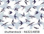 swallow bird pattern | Shutterstock .eps vector #463214858
