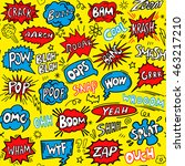 cute comic seamless pattern.... | Shutterstock .eps vector #463217210