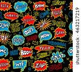cartoon comic book speech... | Shutterstock .eps vector #463217219