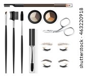 a set of tools and accessories...   Shutterstock .eps vector #463220918