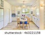 classic kitchen interior design ... | Shutterstock . vector #463221158