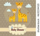 baby shower invitation card... | Shutterstock .eps vector #463224410