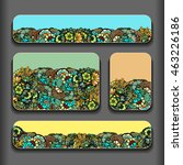 flower abstract pattern cards... | Shutterstock .eps vector #463226186