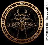 golden bug in the aztec... | Shutterstock .eps vector #463226264