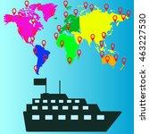 travel ship icon vector...   Shutterstock .eps vector #463227530
