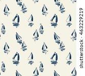 hand drawn sailing yachts... | Shutterstock .eps vector #463229219