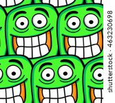 funny cartoon faces seamless... | Shutterstock .eps vector #463230698