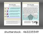 template business brochure with ... | Shutterstock .eps vector #463235549