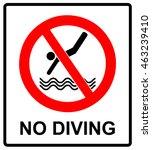 No Diving Sign. Vector...