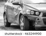 broken car car accident... | Shutterstock . vector #463244900