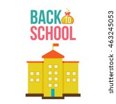 back to school poster with... | Shutterstock .eps vector #463245053
