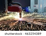laser or plasma cutting... | Shutterstock . vector #463254389