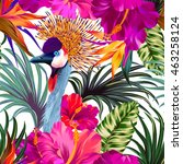 vector floral composition with... | Shutterstock .eps vector #463258124