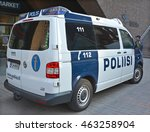 Small photo of HELSINKI FINLAND 09 27 2015: Law enforcement in Finland is the responsibility of several agencies. The national police agency.The two other main agencies are the Border Guard and the customs service