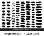 set of black paint  ink  grunge ...   Shutterstock .eps vector #463259246
