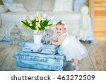 Image Of Sweet Baby Girl In A...