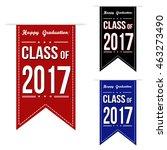 class of 2017 banner design set ...   Shutterstock .eps vector #463273490