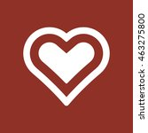 heart  icon. flat design. | Shutterstock .eps vector #463275800