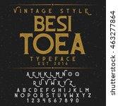 besitoea vintage font and...   Shutterstock .eps vector #463277864