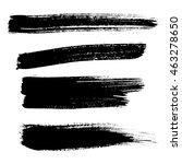 vector isolated grunge black... | Shutterstock .eps vector #463278650