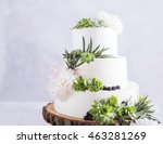 Elegant Wedding Cake With...