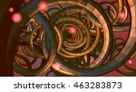 abstract spiral wire background ...
