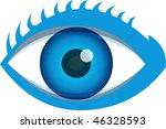 a vector close up of an eye | Shutterstock .eps vector #46328593