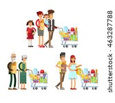 flat illustration for shop ... | Shutterstock .eps vector #463287788
