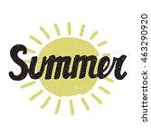 summer card. modern... | Shutterstock .eps vector #463290920