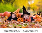 children wearing black and... | Shutterstock . vector #463293824