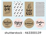 bakery gift tags and stickers... | Shutterstock .eps vector #463300139