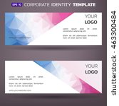 abstract business card design... | Shutterstock .eps vector #463300484